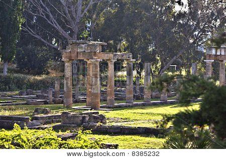 Tempel der Artemis von Vravrona in Attika, Griechenland