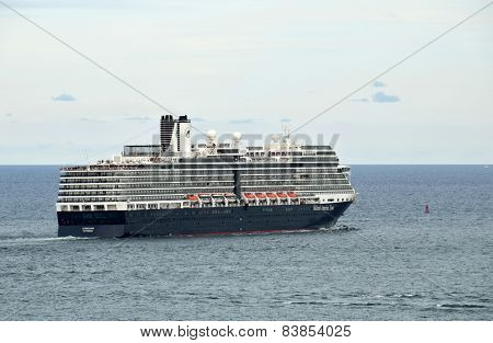 Holland America Ship Leaving Port