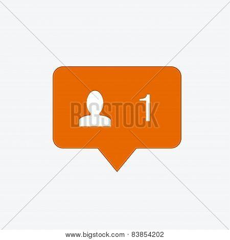 vector modern follow orange icon