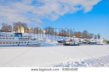 Lappeenranta. Finland. Boats on Saima