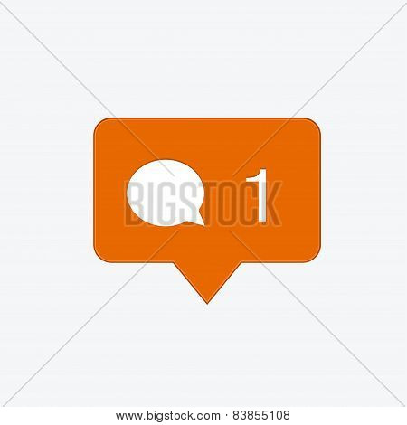 vector modern comment orange icon