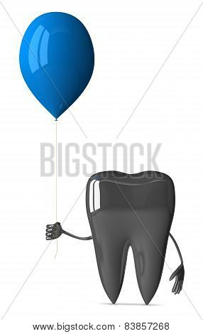 Metallic Tooth With Balloon