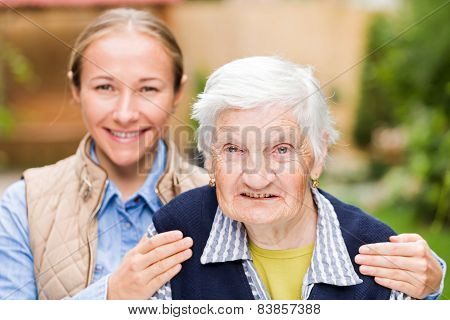 Elderly Woman With Grandchild