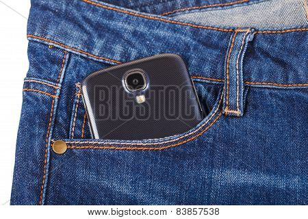Mobile Phone And Blue Jeans