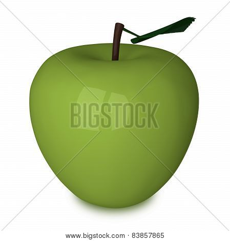 Green Plastic Apple