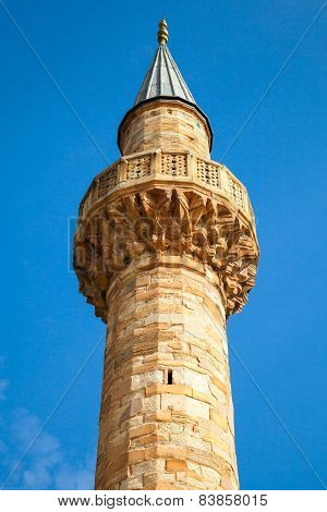 Minaret Of Camii Mosque, Konak Square, Izmir, Turkey