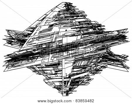 Abstract Construction Structure Vector