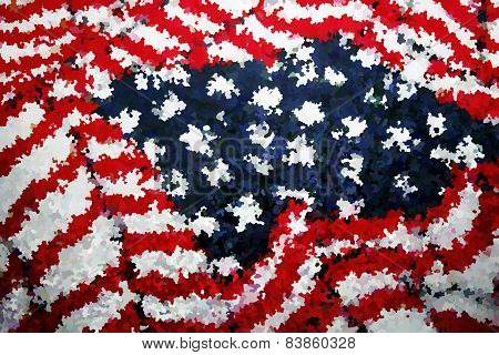 Textured American Flag - rug like