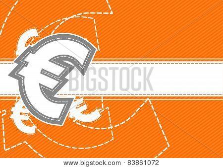 Euro Money Icon Background Design