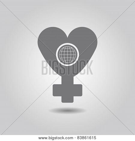 International Women's Day silhouette icon