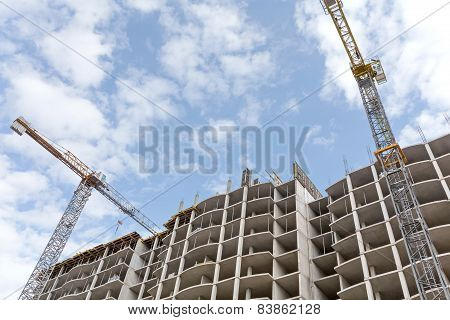 High-rise Building Construction Site