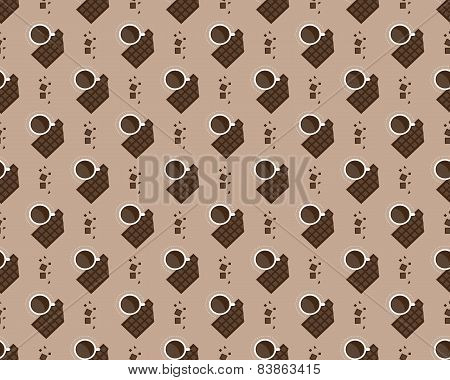 cup of coffee and chocolate pattern