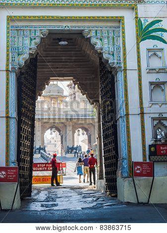 Entrance To Udaipur City Palace