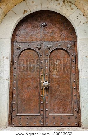 Door Of The Cathedral In Tbilisi.