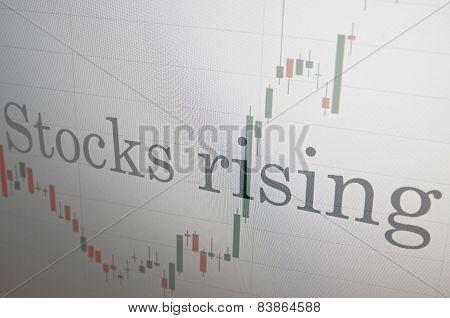 Rise stock market.