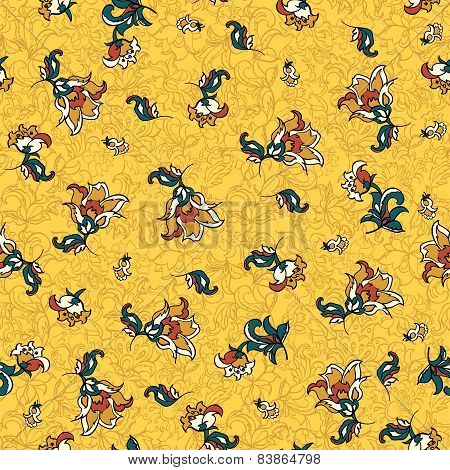 textile floral seamless pattern