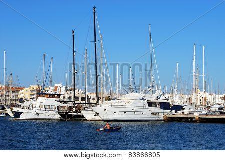 Boats in the marina, Almerimar.