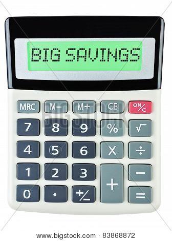 Calculator With Big Savings