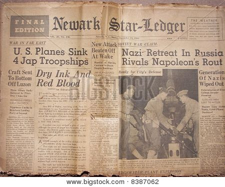 Historical World War Headlines 6
