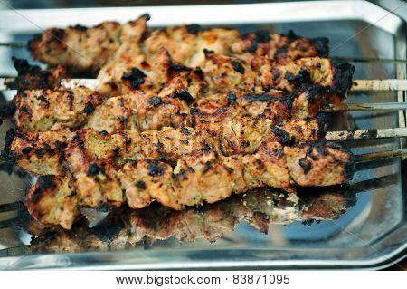 Portions Of Shish Kebab
