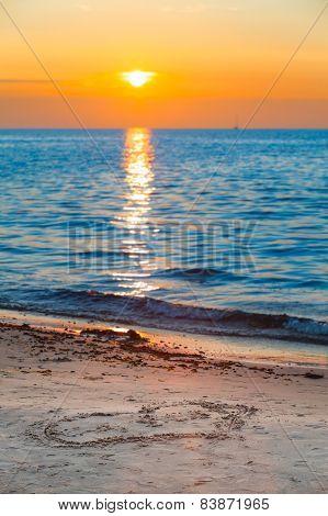 Romantic Love Sunset