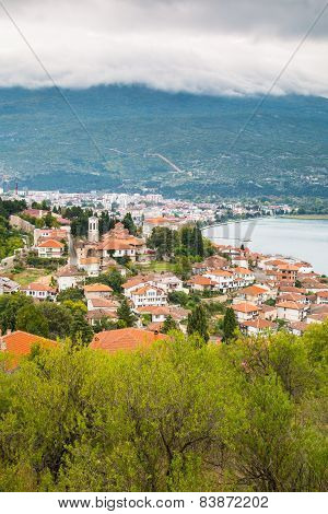 Aerial View Of Ohrid