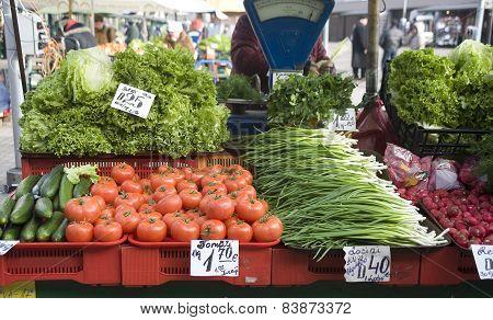 Sale Of Vegetables On A Market.