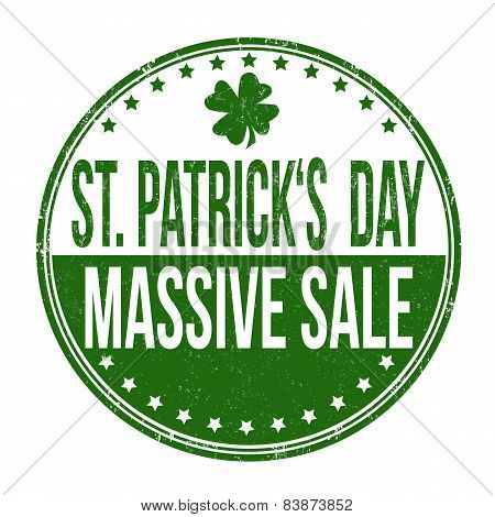 St. Patrick's Day Massive Sale Stamp