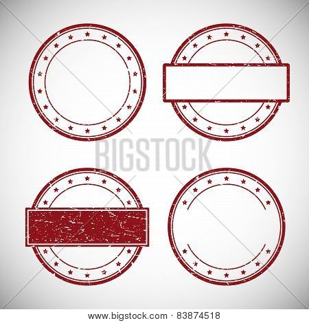 Set of red grunge rubber stamp,vector illustration.