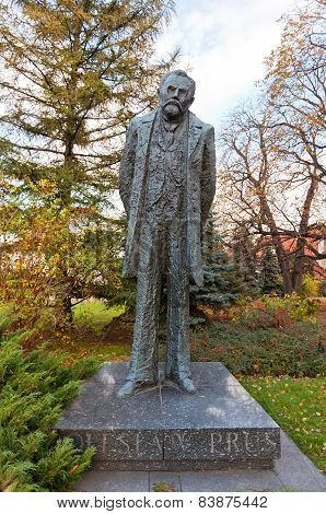 Boleslaw Prus Monument In Warsaw, Poland