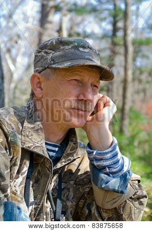 Man In Forest