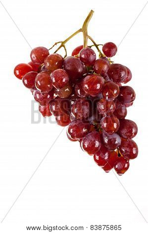 beautiful bunch of red grapes