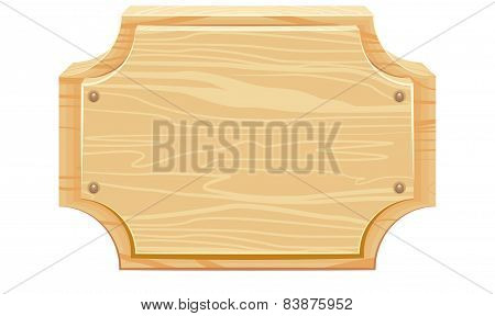 Wooden signboard with rounded corners