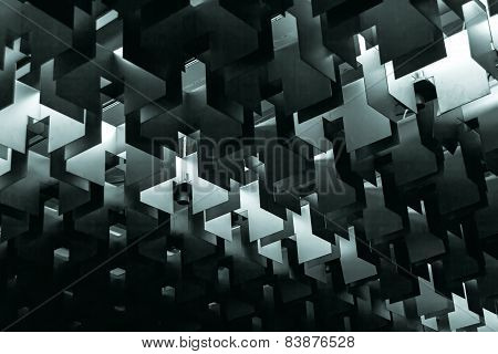 Ceiling Lamp Abstract Rigid Forms