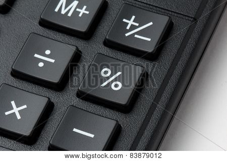 Percent button on calculatror keypad