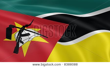 Mozambican Flag In The Wind