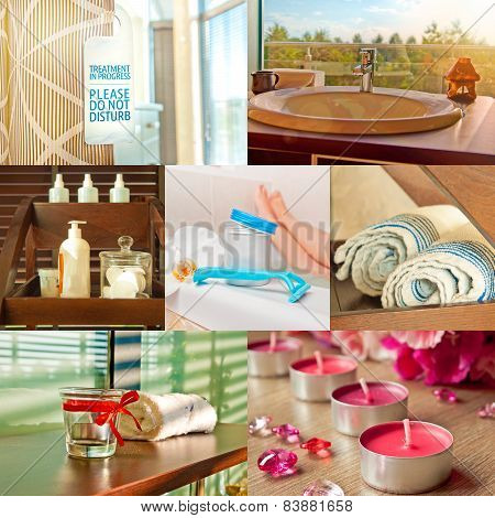 In A Spa - A Beauty Salon Collage