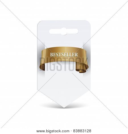 Blank paper with ribbon. Sale label