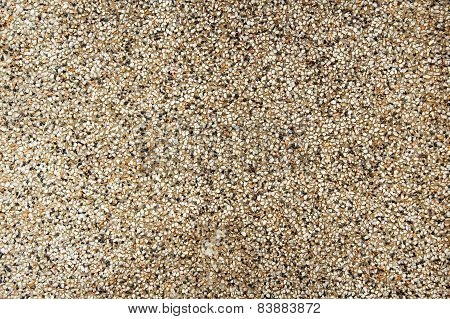 Exposed Aggregate Finish On The Floor
