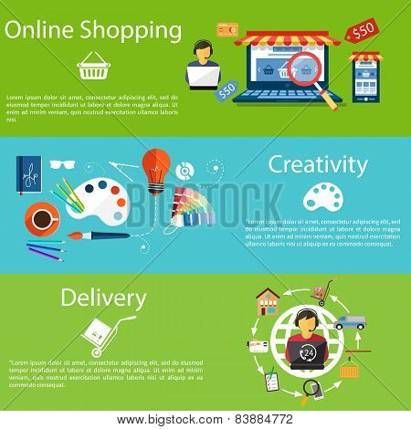 Internet shopping, creativity and delivery