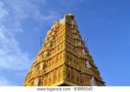 Hindu Temple at Chamundi Hills in Mysore, India