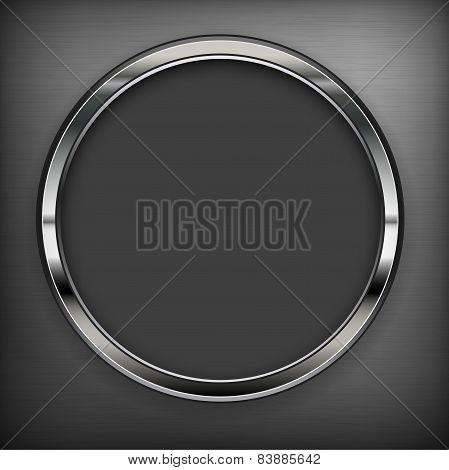 Circle Design Elements On Black