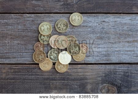 A Heap Of Russian Coins