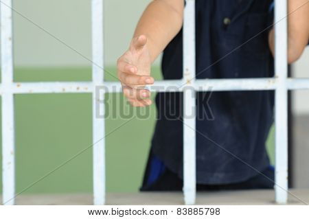 Kid Hand Try To Get Outside