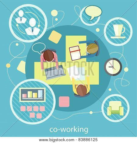Coworking concept. Business meeting