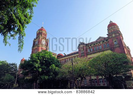 British colonial palace in Yangon, Myanmar.