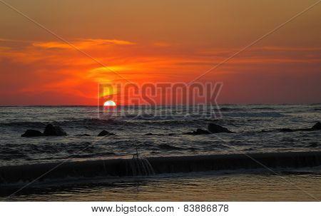 Pacific Coast Sunset.