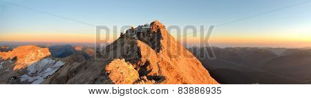 Zugspitze, Highest Mountain Peak In German Alps