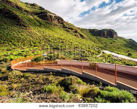 Road And Rocks Of Los Gigantes