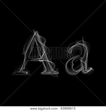 Smoke font. Letter A